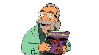 Gary Gygax Futurama Simpsons