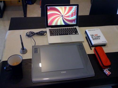 Macbook 13 inch and Wacom 9x12 (A4) Intuos 3