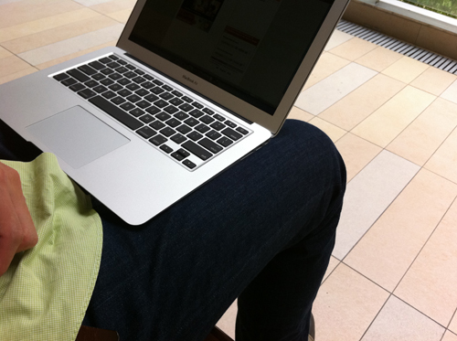 MacBook Air on Lap